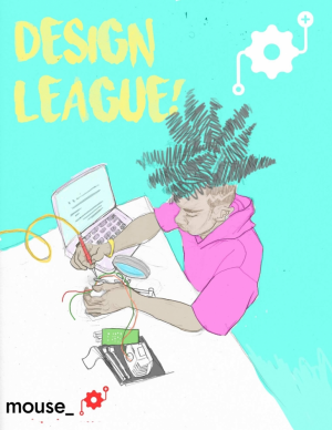 cover of a zine for recruitment of Design League youth
